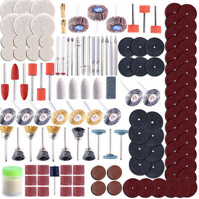350pcs Rotary Tool Accessory Set For Grinding Sanding Polishing Kit New