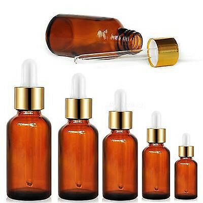 Amber Round Glass Liquid Reagent Bottle With Dropper Drop Essential Oil HYDG SR