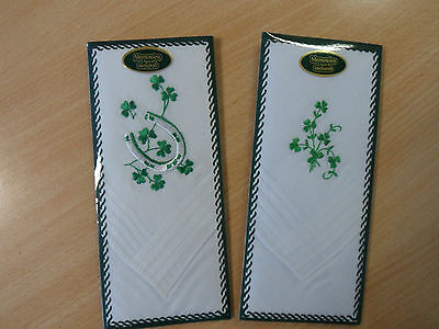 A Ladies Irish Embroidered Handkerchief - 2 Designs