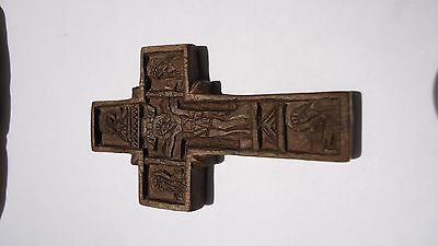 Antique wooden Cross carved, Athos mountain wooden cross