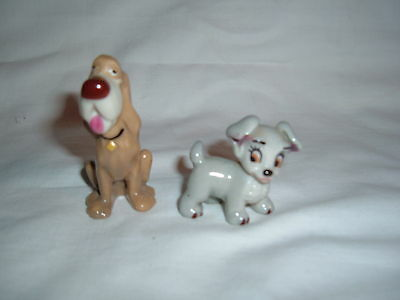 Two Wade  Dogs Scamp  With Original Label  And Trusty  Genuine Items