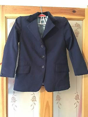 Childs Navy Pytchley Derby House Show Jacket 5/6 Yrs