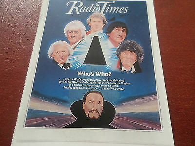 1983 Postcard Radio Times Dr Who The Five Doctors