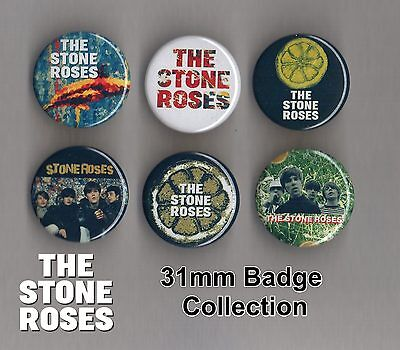 The Stone Roses 31mm Badge Collection Set 2 Ian Brown FREEPOST