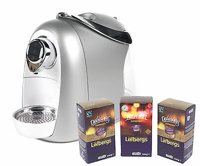 Caffitaly SO4 Silver and White Coffee Making Espresso Machine with 48 Free Coffe