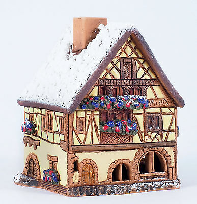 Handmade Midene ceramic Incense house in Kaysersberg, France (Winter edition)