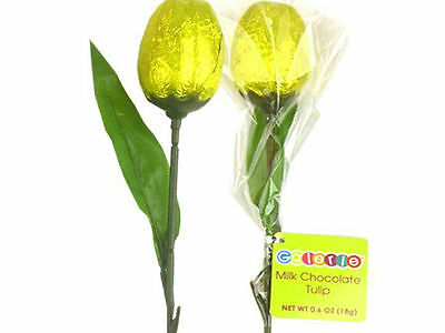 Yellow Foil 28cm Long Chocolate Unique Tulip - Show Love to someone special