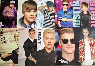 JUSTIN BIEBER - Folded Magazine Posters from Europe
