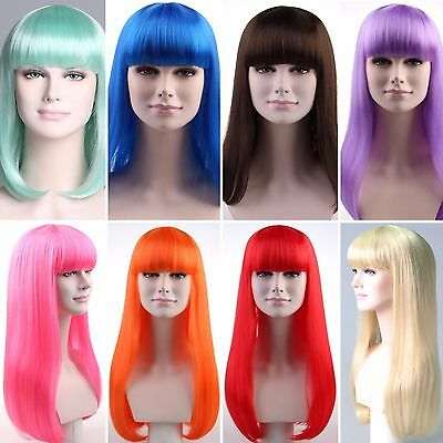 Festival Coachella Glastonbury Celeb Fashion Wigs Multiple Colours Adult Sizes