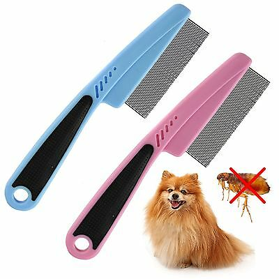 Pet Touch Ultra-Fine Flea Dog Cat Comb Metal Teeth Healthy Fur Hair Coat Clean