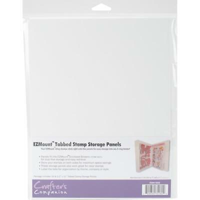 Crafter's Companion - EZMount Tabbed Stamp Storage Panels 4/Pkg