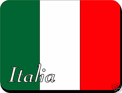 Italian Flag Mousemat Pad Italy Can Be Personalised