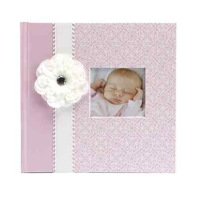 NEW New  Slim Bound Baby Girl Photo Picture Album Journal Pink Free Shipping