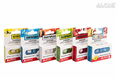 Alpine Hearing Protection Noise Filtration Ear Plugs *full Range In Stock* New