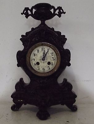 clock Cast iron cartel Napoleon 3 Head lion Movement paris systeme brocot XIXth