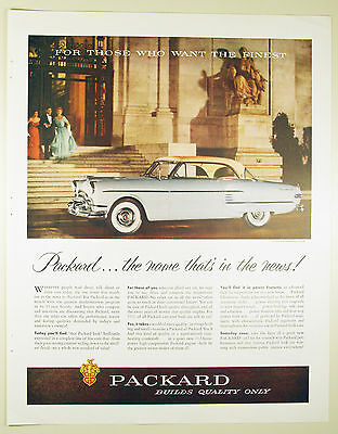 Vintage 1952 PACKARD Automobile Lg Full-Page Magazine Print Ad