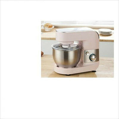 Pink + Stainless Steel Food Mixer 4 Litre 600W 6 Settings Kitchen Baking Cafe