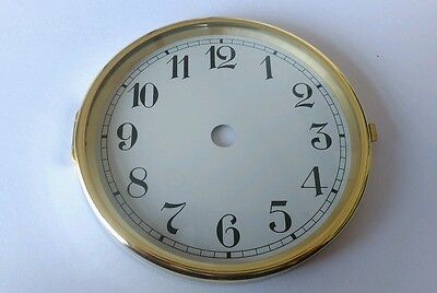 Brass Clock Bezel and Glass 110mm Arabic Dial