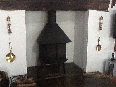 vintage pair of ship oil lamps brass