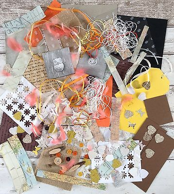 Crafts Clearout Pack No.17. Scrapbooking. Feathers,Cutouts, Buttons, Etc.