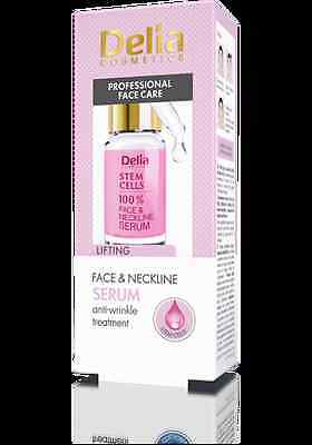 Delia Stem Cells 100% Face & Neckline Serum Anti-Wrinkle Lifting Treatment 10 ml
