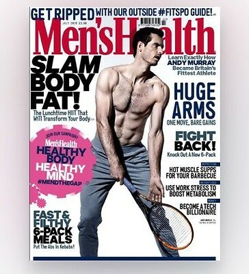 Mens Health Magazine July 2016 - ANDY MURRAY (BRAND NEW COPY)