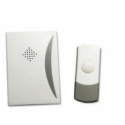 Wire Free Wireless Door Chime Set Kit 25 Tunes Sounds Bell Battery Operated