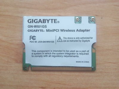 Tarjeta Wifi Gigabyte GN-WI01GS MiniPci Wireless Adapter + Drivers