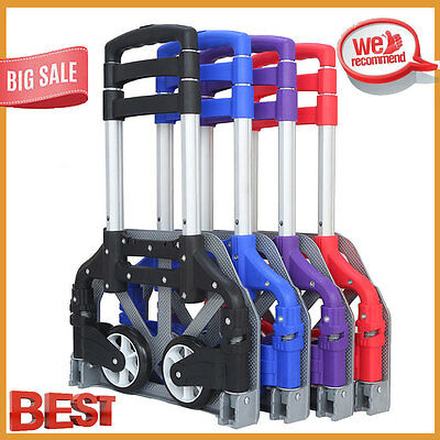 170lbs Folding Dolly Cart Push Hand Truck Moving Warehouse Platform Trolley MY
