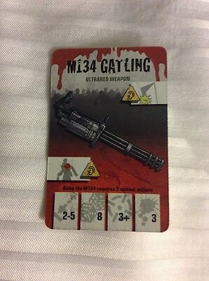 Zombicide M134 Gatling Ultrared Weapon Cool Mini Or Not Convention Promo