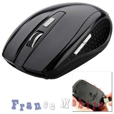Mouse wireless Souris Sans Fil Optique USB Mini pour Laptop PC Mac Portable Noir