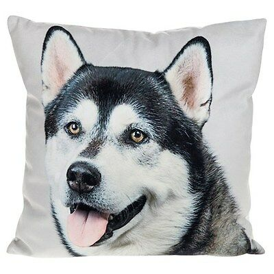 """Malamute/Husky Cushion with Super Soft Feel By Visage LARGE 43cm/17"""""""