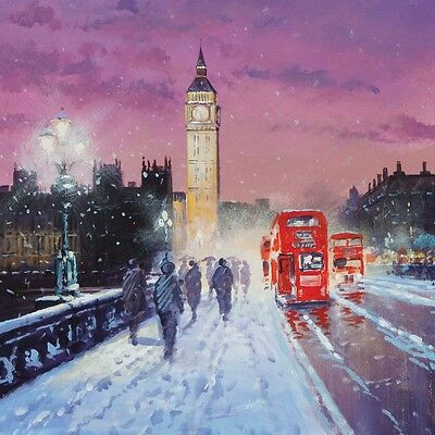 Charity Christmas Cards Big Ben Bus Scenic Tourist Gloss Finish Xmas - Pack 5