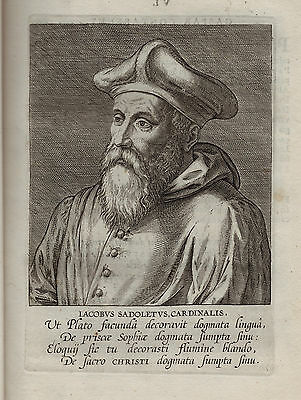 x RARE - 1598 Book - Galle : Effigies - 12 Cardinals w Exquisite Engraved Prints
