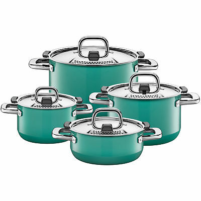 Silit Topf-Set 4-teilig Nature Green Funktionsdeckel Control Lid Made in Germany