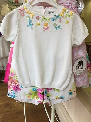BNWT Sarah Louise Girls Aged 3years Flowery Shorts And Top Set