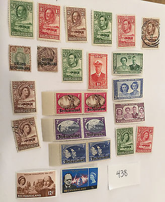 Bechuanaland Protectorate small Lot of 22 Stamps Victoria 1898 - 1966 env438