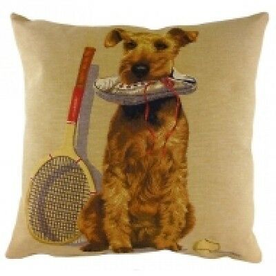 Sporting Terrier Tapestry Dog Cushion By Evans Lichfield Airedale/Welsh Terrier