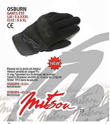 GANT HOMME GLOVES MOTO SCOOTER  ETE MITSOU OSBURN  taille L HOMOLOGUE CE