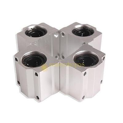 4 Pcs SC20UU 20mm Aluminum Linear Motion Ball Bearing Slide Bushing for CNC New