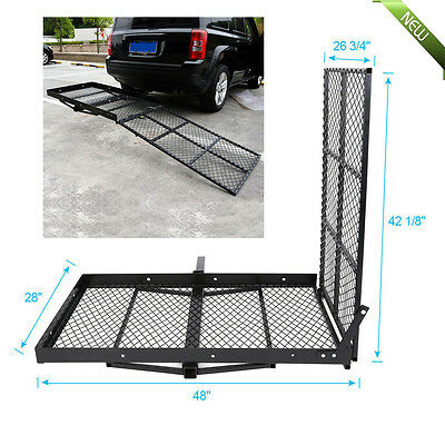 """Mobility Carrier Wheelchair Disability Medical Ramp Hitch Scooter Rack Mount 48"""""""