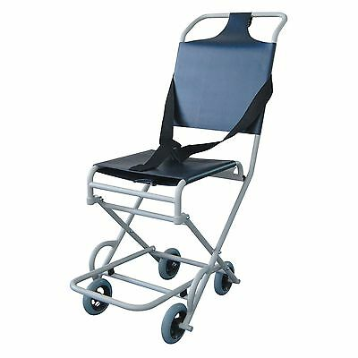 Lightweight Folding narrow Ambulance evacuation chair with 4 castors Roma 1824