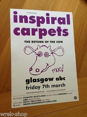 Inspiral Carpets - Glasgow gig poster, March 2008