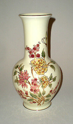 Hungarian Zsolnay Porcelain Vase With Flowers