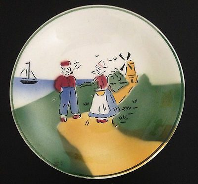 Antique Dutch Handpainted Plate Made in Czechoslovakia