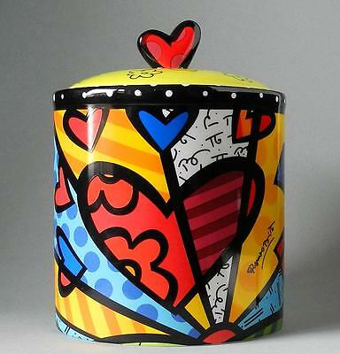 "Keksdose Gebäckdose Cooky Jar - ""A NEW DAY"" - ROMERO BRITTO Miami Pop Art Design"