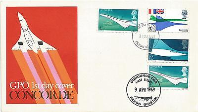 First Day combination cover of Concorde 1969