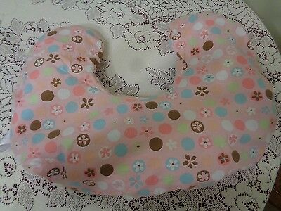 Boppy Pillow Cover Pink Floral (No pillow included) free ship