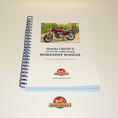 Honda CB650 SOHC Four Factory Workshop Shop Manual Book. Reproduction. HWM047