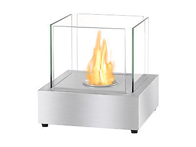 Ignis Bio Ethanol Fireplace, Ventless Tabletop Fireplace - Cube